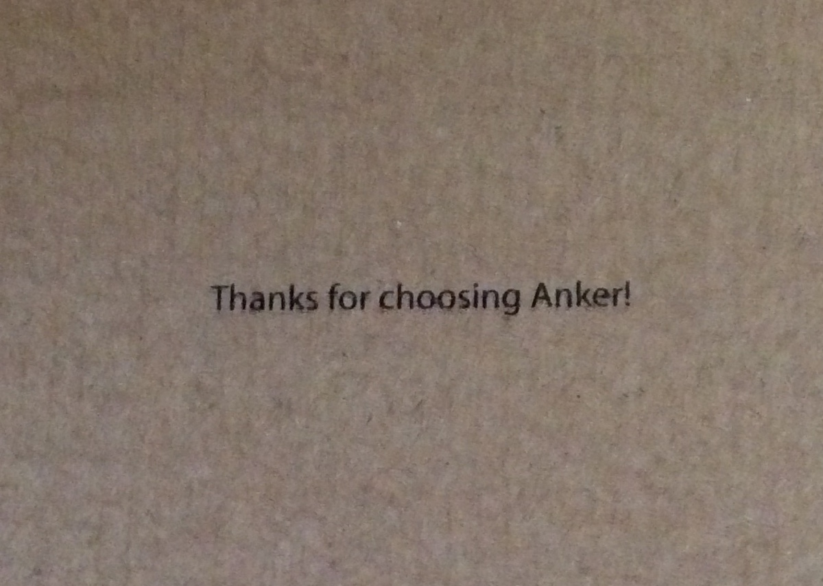 Thanks for choosing Anker!