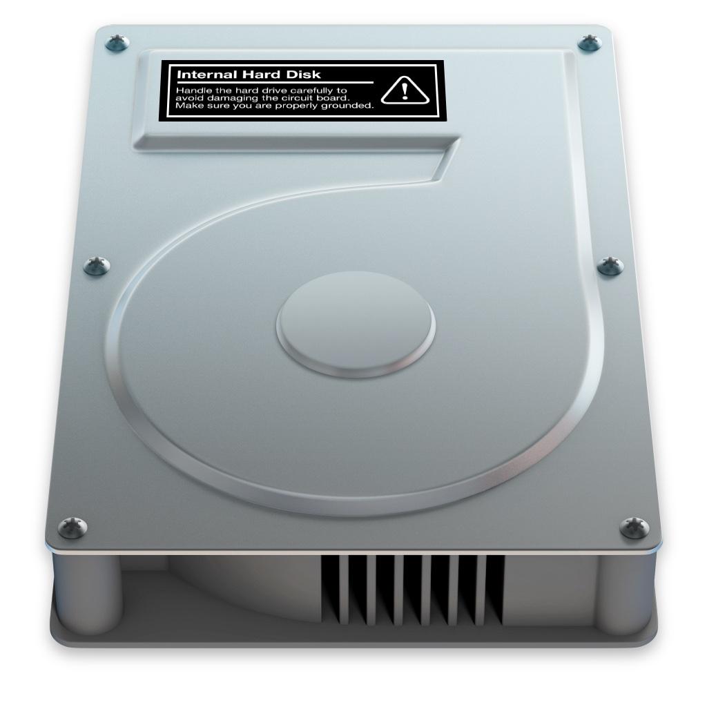 【OS X】HDDアイコン、洗練された美しさが目に留まる