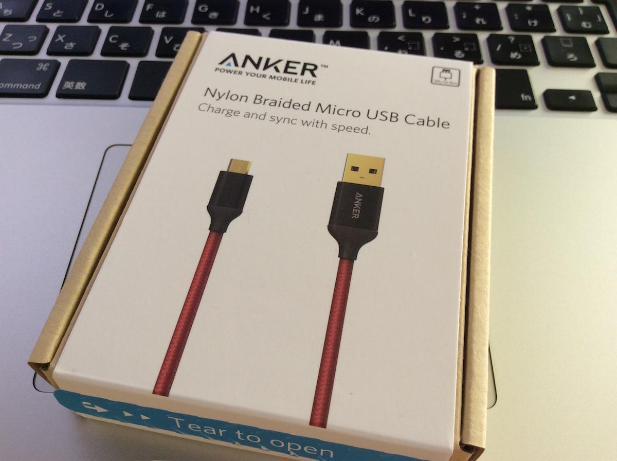 【Anker】A7115直径4mmほど、太めのレッドがカッコいい!
