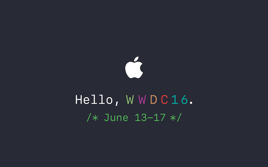 WWDC 2016 そろそろ気分を盛り上げてきますか