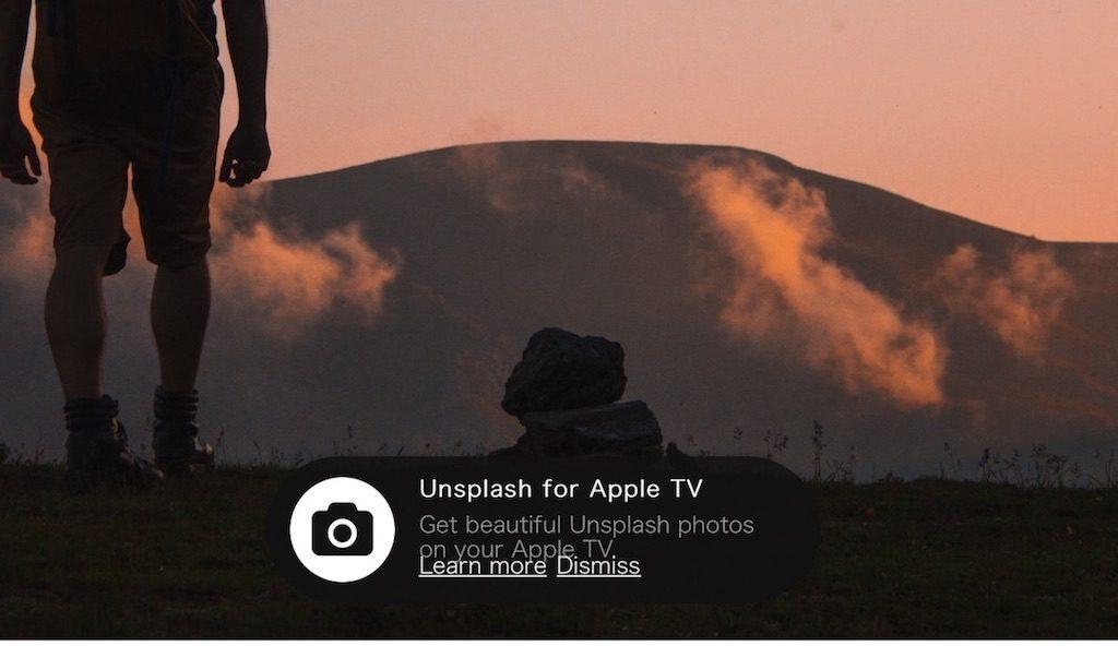 【CC0】Unsplash が、Apple TV のアプリに登場!