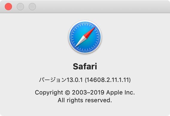 Safari 13.0.1