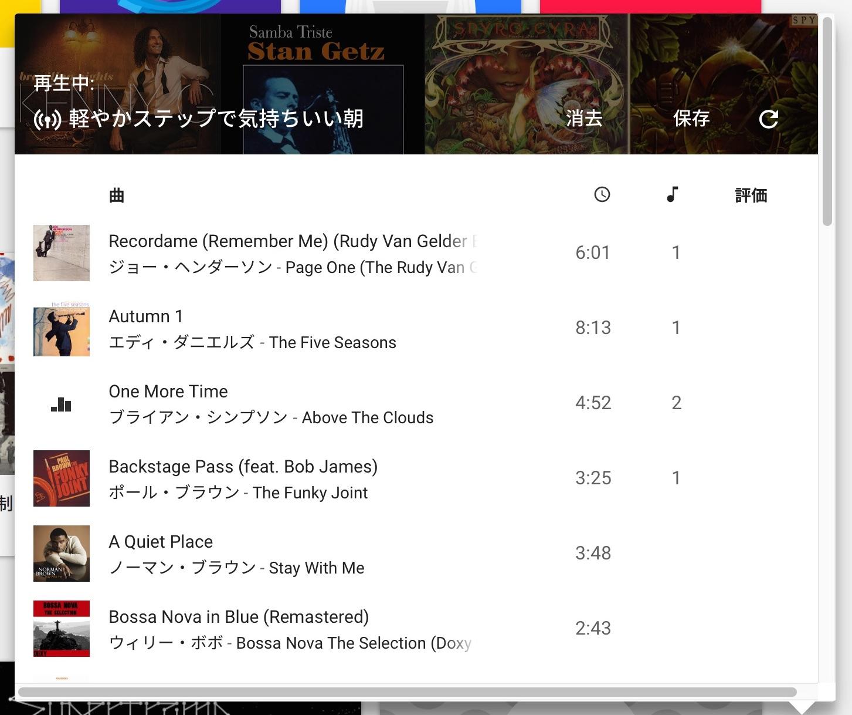 Google Play Music 軽やかステップで気持ちいい朝